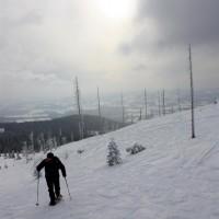 Aufstieg zum Dreiländereck Wintersonne