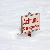 Dreiländereck Winter Staatsgrenze