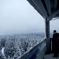 Aussichtsturm Schneeschuh Haidel