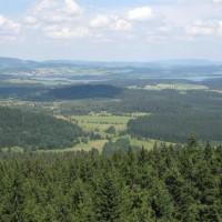 Ausblick Aussichtsturm Moldaustausee