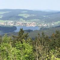 Ausblick auf Frymburk von Burg