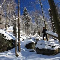 Grosse Kanzel und Felsengebiet im Winter