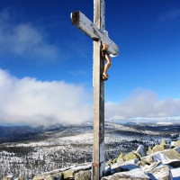 Winter Gipfel Lusen