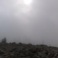 Lusengipfel im Nebel