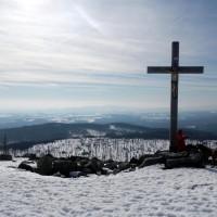 Lusen Gipfel im Winter