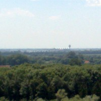 Panorama-Blick zum Flughafen bis nach Müchen und Alpen