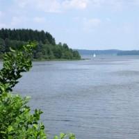 Bayerische Au Blick auf Moldaustausee