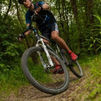Mountainbike in Action