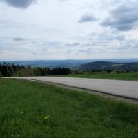 Ausblick vom Oberfrauenwald auf Hauzenberg