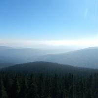 Aussicht vom Boubin ueber den Bayerischen Wald