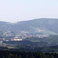 Panorama Blick auf Hauzenberg