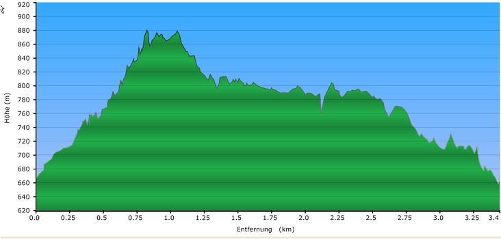 Höhenprofil der Tour: Ruhmannsberg